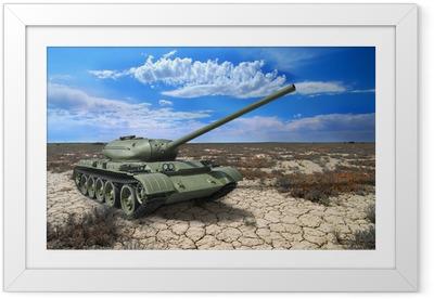 Soviet tank T-54 of 1946 year Framed Poster