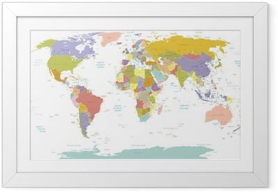 Poster in Cornice High Detail Mondo map.Layers utilizzato.