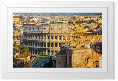 Colosseum at sunset Framed Poster
