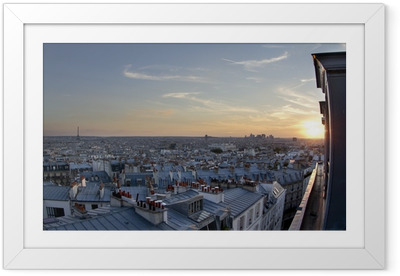 Gerahmtes Poster Dächer von Paris