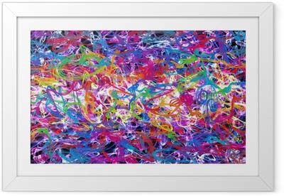 abstract graffiti Framed Poster