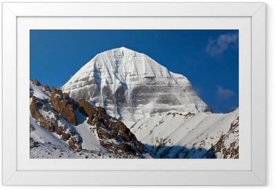 Póster com Moldura Mount Kailash in Tibet