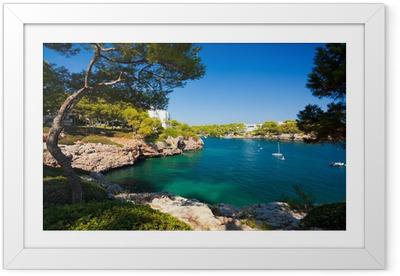 Plakat w ramie Cala d'Or bay, Wyspa Mallorca, Hiszpania