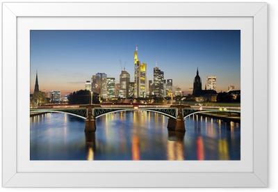 Frankfurt am Main. Framed Poster