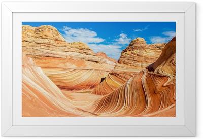 Plakat w ramie Fala, Arizona pustynia skalista