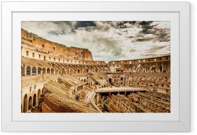 Inside of Colosseum in Rome, Italy Framed Poster
