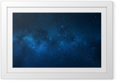 Night sky - Universe filled with stars, nebula and galaxy Framed Poster