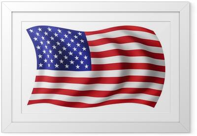 Poster en cadre USA drapeau Etats-Unis - Drapeau américain
