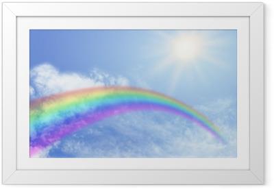 Gerahmtes Poster Regenbogen-Website Banner-Header