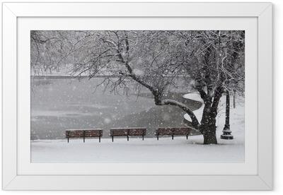 Ingelijste Poster Sneeuwval in Boston