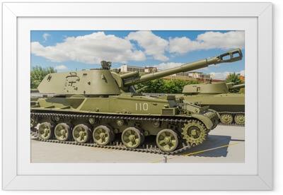 Ingelijste Poster Zware tank militair museum exposeren