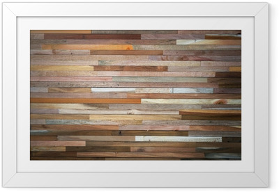 wood wall Framed Poster