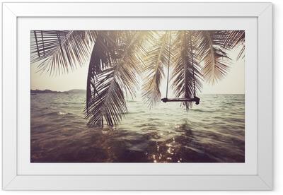 Tropical beach Framed Poster