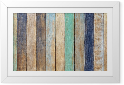 Colorful Wooden Plank Framed Poster