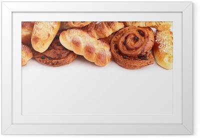 Innrammet plakat Brød og bakverk