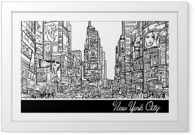 Times Square in New York Framed Poster