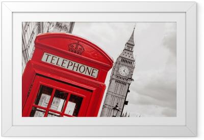 Póster Enmarcado Cabina de teléfono. Londres, Reino Unido
