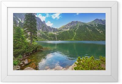 Silta meren järven tatra vuoret, poland Kehystetty juliste