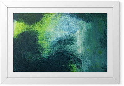 Macro of the painting, colorful abstract Framed Poster