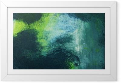 Poster en cadre Macro de la peinture, abstraite colorée - Ressources graphiques