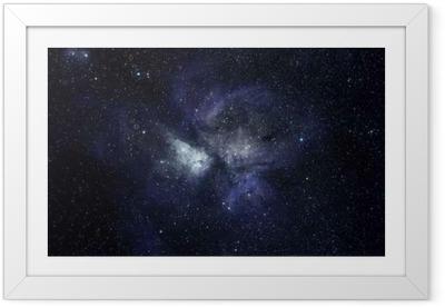 Obrazek w ramie Niebieskie tło przestrzeni