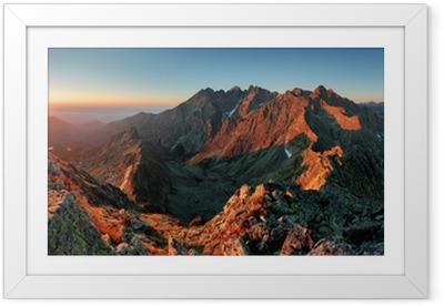 Ingelijste Poster Panorama berg herfst landschap