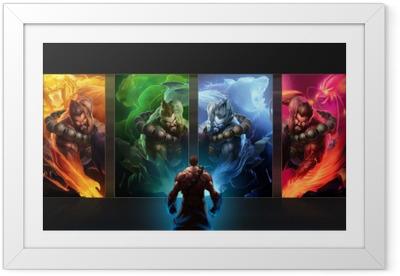 Gerahmtes Poster League of Legends