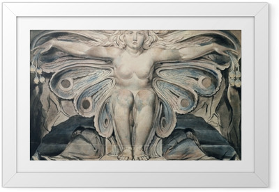 Gerahmtes Poster William Blake - Personifikation des Grabes