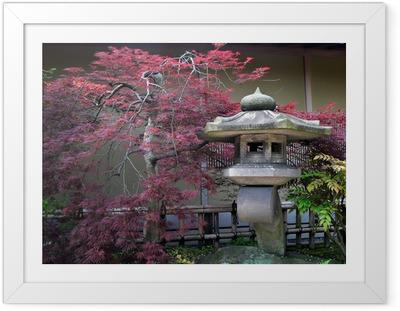 Póster Enmarcado Jardín japonés