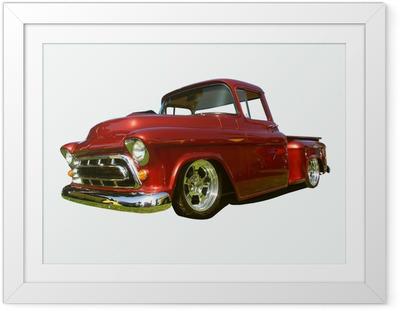 hot rod pick-up Framed Poster