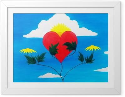 Gerahmtes Poster Heilende Kraft der Natur, die mit ihren Kräften das Herz pflegt und regeneriert.