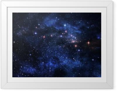 Gerahmtes Poster Deep space Nebel