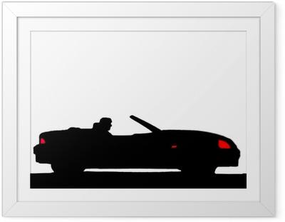 Plakat w ramie Sylwetka sport samochodowy
