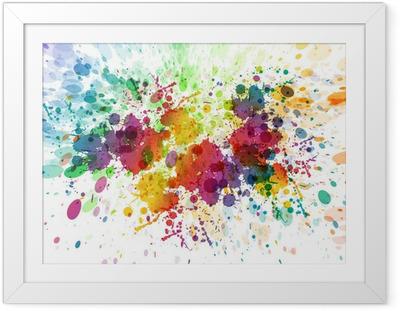 Gerahmtes Poster Raster-Version von abstrakten bunten splash Hintergrund