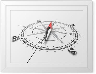 Gerahmtes Poster Kompass