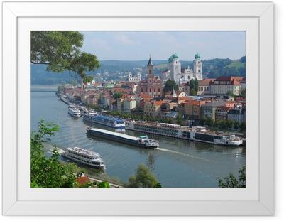Poster en cadre Passau, ville de Trois-Rivières, Bavière, Allemagne.
