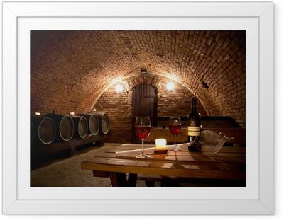 Gerahmtes Poster Wine cellar
