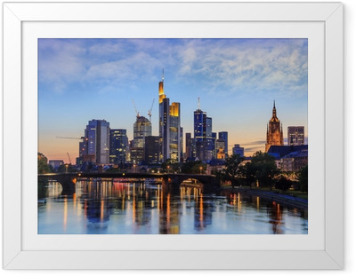 Frankfurt Skyline, Germany Framed Poster