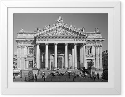 Ingelijste Poster De Beurs van Brussel