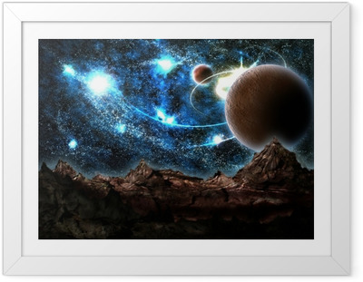 the lost world, planet, cosmos Framed Poster