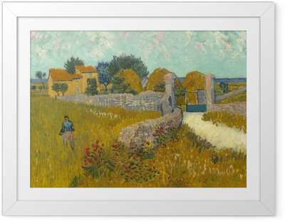 Póster Enmarcado Vincent van Gogh - Campo de trigo