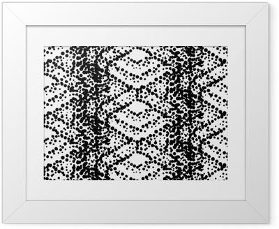 e5fd5948 Innrammet plakat Pointillism stil sømløs mønster