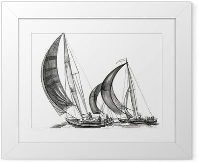 Poster en cadre Bateaux de mer