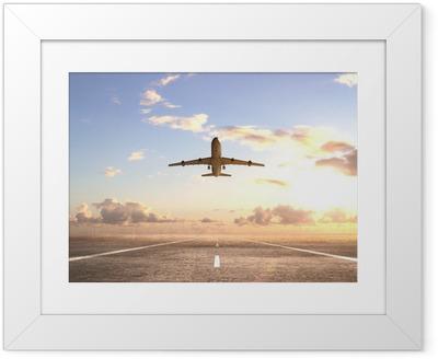 Ingelijste Poster Vliegtuig op de baan