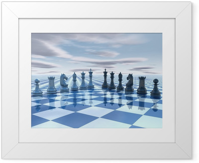 chess surreal background Framed Poster