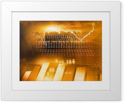 Poster en cadre Bourse graphique et des affaires Bar Graphique