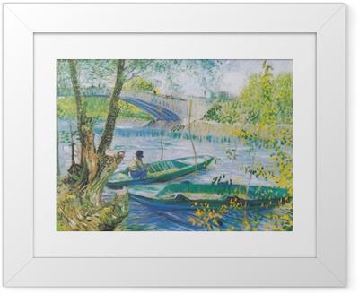 Ingelijste Poster Vincent van Gogh - Vissen in het voorjaar