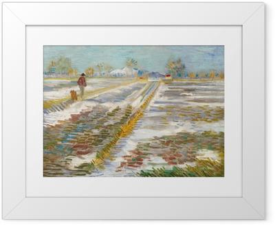 Poster i Ram Vincent van Gogh - Landskap med snö