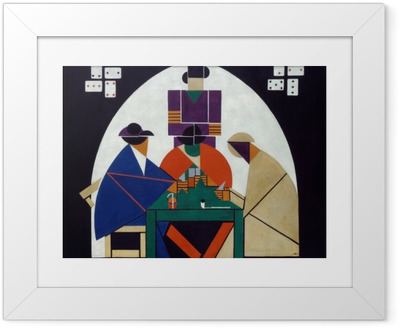 Ingelijste Poster Theo van Doesburg - Karetní hráči