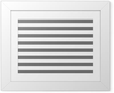 Gerahmtes Poster Weiß und grau gestreift